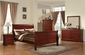 ACME Louis Philippe III Eastern King Bed Cherry - 19517EK-Sleigh Beds-HipBeds.com