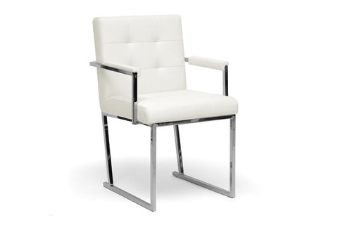 Baxton Studio Collins Ivory Mid-Century Modern Accent Chair