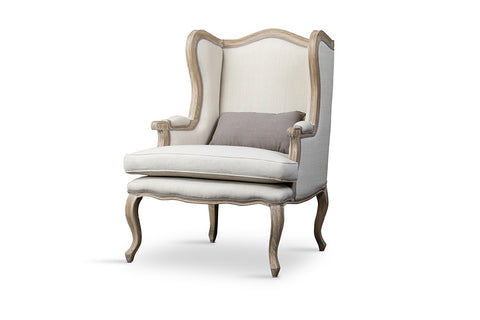 Baxton Studio Auvergne Wood Traditional French Accent Chair