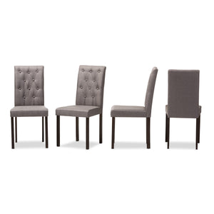 Baxton Studio Gardner Brown Grey Dining Chair - Set of 4 - 1