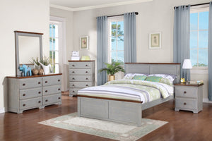 Donco Kids Full Panel Bed Washed Denim B0313FWD-Panel Beds-HipBeds.com