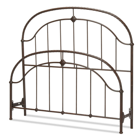 Leggett & Platt Cascade Bed w/ Metal Panels & Twisted-Rope Rail, Ancient Gold Finish, Full-Headboards & Footboards-HipBeds.com