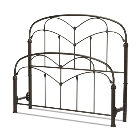 Leggett & Platt Pomona Bed w/ Arched Metal Grills, Hazelnut Finish, Full-Headboards & Footboards-HipBeds.com