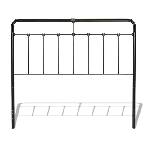 Leggett & Platt Fairfield Metal Headboard w/ Spindles, Dark Roast Finish, Full-Headboards & Footboards-HipBeds.com