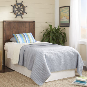 Leggett & Platt Porter Kids Wood Headboard w/ Natural Knotting & Patina, Brushed Walnut Finish, Full-Headboards & Footboards-HipBeds.com