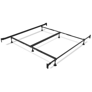 Leggett & Platt Kenton Metal Bed, Chrome & Black Nickel Finish, California King-Beds-HipBeds.com