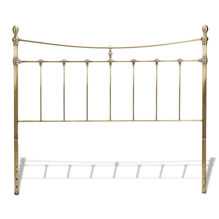 Leggett & Platt Leighton Metal Headboard w/ Rounded Posts, Glazed Brass Finish, King