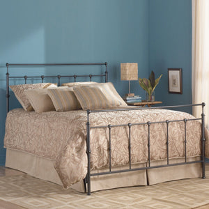 Leggett & Platt Winslow Bed w/ Metal Panels & Aluminum Castings, Mahogany Gold Finish, Full-Headboards & Footboards-HipBeds.com