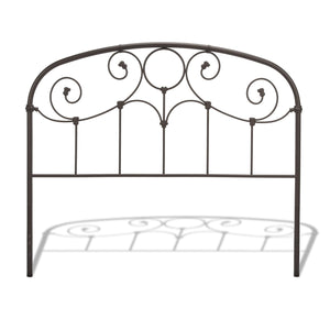Leggett & Platt Grafton Bed w/ Metal Scrollwork Panels & Decorative Castings, Rusty Gold Finish, Queen-Headboards & Footboards-HipBeds.com