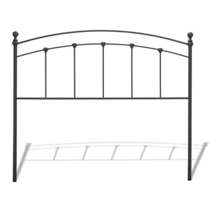 Leggett & Platt Sanford Bed w/ Metal Panels & Round Finial Posts, Matte Black Finish, Twin-Headboards & Footboards-HipBeds.com