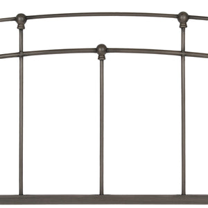 Leggett & Platt Fenton Bed w/ Metal Duo Panels & Globe Finials, Black Walnut Finish, Full-Headboards & Footboards-HipBeds.com