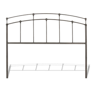 Leggett & Platt Fenton Bed w/ Metal Duo Panels & Globe Finials, Black Walnut Finish, Queen-Headboards & Footboards-HipBeds.com