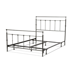 Leggett & Platt Winslow Bed w/ Metal Panels & Aluminum Castings, Mahogany Gold Finish, King-Beds-HipBeds.com
