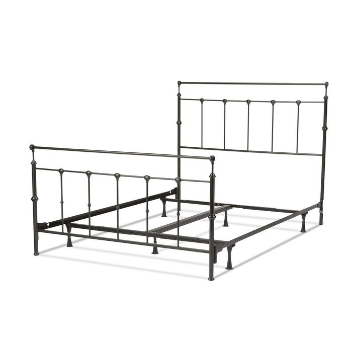 Leggett & Platt Winslow Bed w/ Metal Panels & Aluminum Castings, Mahogany Gold Finish, King