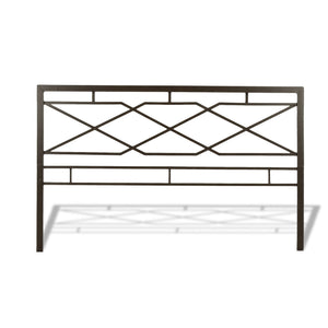 Leggett & Platt Alpine Snap Bed w/ Geometric Panel Design, Rustic Pewter Finish, Queen-Beds-HipBeds.com