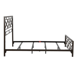 Leggett & Platt Alpine Snap Bed w/ Geometric Panel Design, Rustic Pewter Finish, King-Beds-HipBeds.com