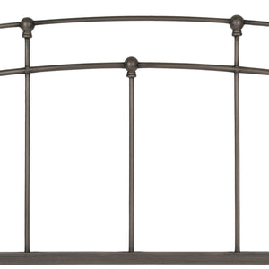 Leggett & Platt Fenton Metal Daybed Frame w/ Spindle Panels & Finial Globe Castings, Black Walnut Finish, Twin-Daybeds-HipBeds.com