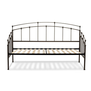 Leggett & Platt Fenton Metal Daybed w/ Spindle Panels & Euro Top Deck, Black Walnut Finish, Twin-Daybeds-HipBeds.com