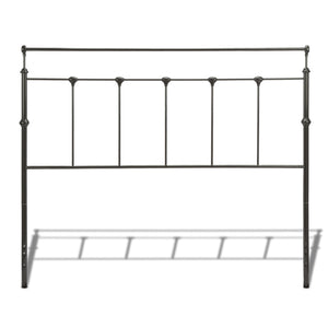 Leggett & Platt Winslow Metal Headboard w/ Rounded Posts & Aluminum Castings, Mahogany Gold Finish, Twin-Headboards & Footboards-HipBeds.com