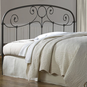 Leggett & Platt Grafton Metal Headboard w/ Scrollwork Design & Decorative Castings, Rusty Gold Finish, Queen-Headboards & Footboards-HipBeds.com