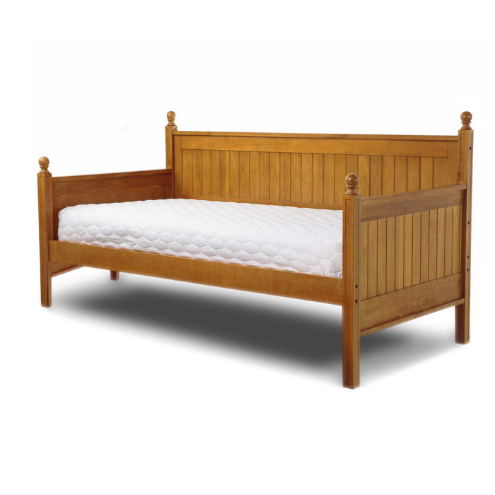 Leggett & Platt Casey II Wood Daybed w/ Ball Finials, Honey Maple Finish, Twin