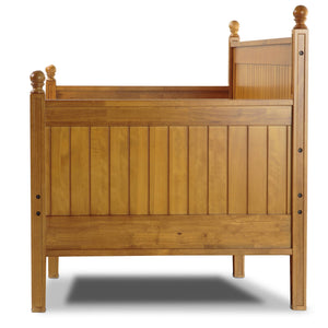 Leggett & Platt Casey II Wood Daybed w/ Ball Finials, Honey Maple Finish, Twin-Daybeds-HipBeds.com