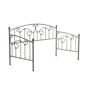 Leggett & Platt Hinsdale Metal Daybed w/ Euro Top Deck & Trundle Bed Pop-Up Frame, Antique Pewter Finish, Twin-Daybeds-HipBeds.com