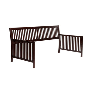 Leggett & Platt Mission Wood Daybed Frame w/ Open-Slatted Back & Side Panels, Espresso Finish, Twin-Daybeds-HipBeds.com