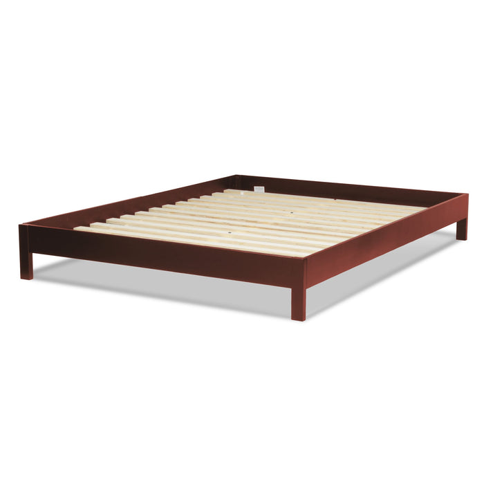 Leggett & Platt Murray Platform Bed w/ Wooden Box Frame, Mahogany Finish, California King