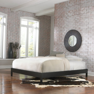 Leggett & Platt Murray Platform Bed w/ Wooden Box Frame, Black Finish, King-Beds-HipBeds.com