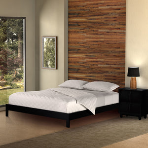 Leggett & Platt Murray Platform Bed w/ Wooden Box Frame, Black Finish, California King-Beds-HipBeds.com