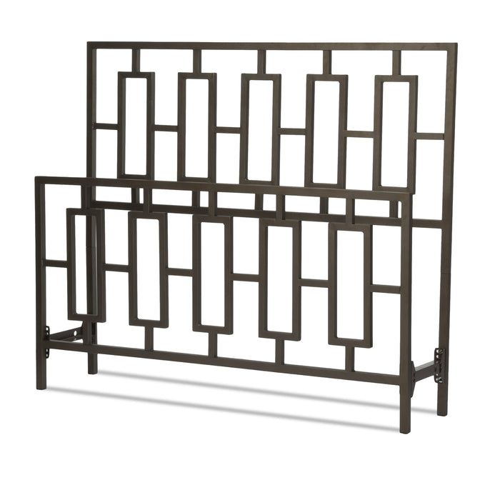 Leggett & Platt Miami Bed w/ Squared Tube Metal Duo Panels, Coffee Finish, Queen