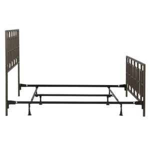 Leggett & Platt Miami Bed w/ Squared Tube Metal Duo Panels, Coffee Finish, Full-Beds-HipBeds.com