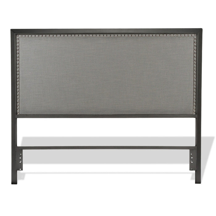 Leggett & Platt Normandy Metal Headboard w/ Gray Upholstery, California King