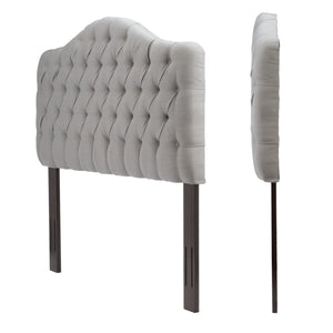 Leggett & Platt Martinique Upholstered Adjustable Headboard Pane, Putty Finish, Twin-Headboards & Footboards-HipBeds.com