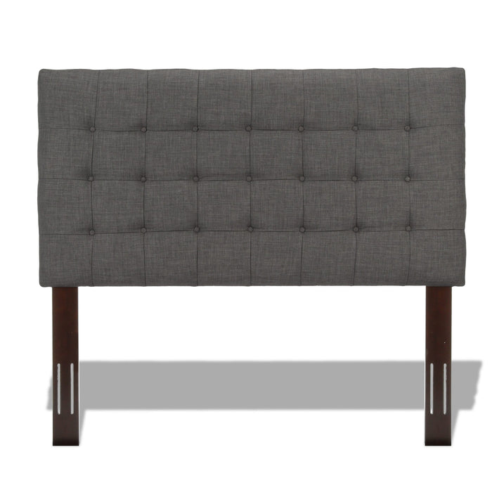 Leggett & Platt Strasbourg Upholstered Adjustable Headboard Pane, Charcoal Finish, King / California King