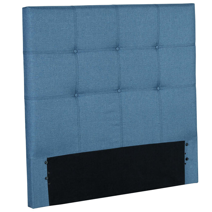 Leggett & Platt Henley Upholstered Kids Headboard Panel w/ Button Tufted Design, Denim Blue Finish, Twin