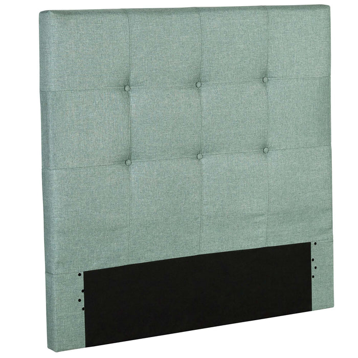 Leggett & Platt Henley Upholstered Kids Headboard Panel w/ Button Tufted Design, Celery Green Finish, Twin