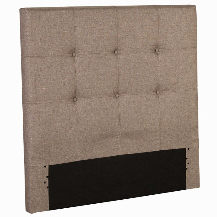 Leggett & Platt Henley Upholstered Kids Headboard Panel w/ Button Tufted Design, Sand Castle Finish, Twin