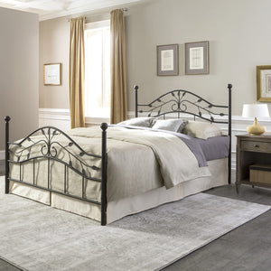 Leggett & Platt Sycamore Bed w/ Arched Metal Duo Panels, Hammered Copper Finish, King-Headboards & Footboards-HipBeds.com