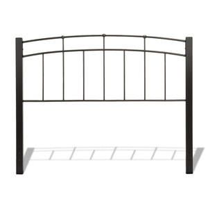 Leggett & Platt Scottsdale Bed w/ Metal Panels & Dark Wooden Posts, Black Finish, King-Beds-HipBeds.com