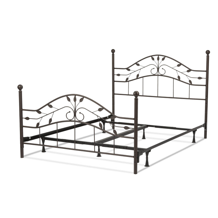 Leggett & Platt Sycamore Bed w/ Arched Metal Duo Panels, Hammered Copper Finish, Twin