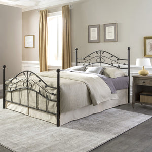Leggett & Platt Sycamore Bed w/ Arched Metal Duo Panels, Hammered Copper Finish, Full-Beds-HipBeds.com