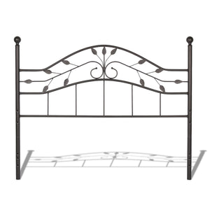 Leggett & Platt Sycamore Bed w/ Arched Metal Duo Panels, Hammered Copper Finish, King-Beds-HipBeds.com