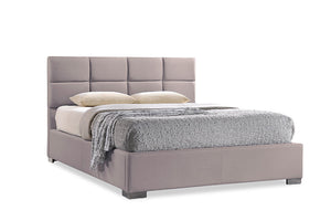 Baxton Studio Sophie Modern and Contemporary Beige Fabric Upholstered Queen Size Platform Bed - Beige-Platform Beds-HipBeds.com