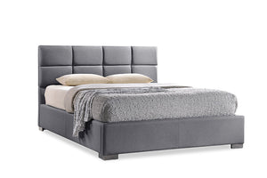 Baxton Studio Sophie Modern and Contemporary Grey Fabric Upholstered Full Size Platform Bed - Grey-Platform Beds-HipBeds.com