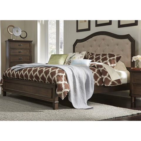 Liberty Furniture Berkley Heights Antique Washed Walnut Bed - 102-BR-XPB-Panel Beds-HipBeds.com