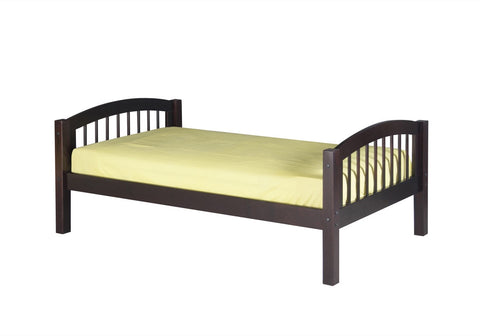 Camaflexi Platform Bed - Arch Spindle Headboard - Cappuccino Finish - C102_CP-Panel Beds-HipBeds.com