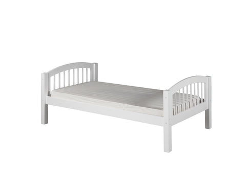 Camaflexi Platform Bed - Arch Spindle Headboard - White Finish - C103_WH-Panel Beds-HipBeds.com