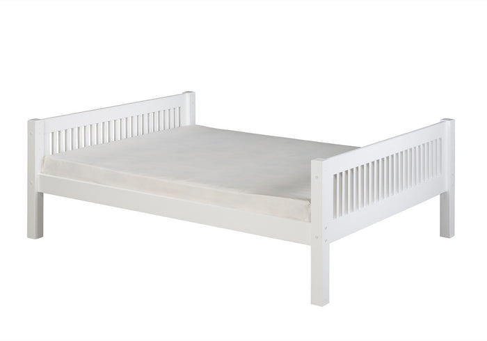 Camaflexi Full Size Platform Bed - Mission Headboard - White Finish - C1413_WH